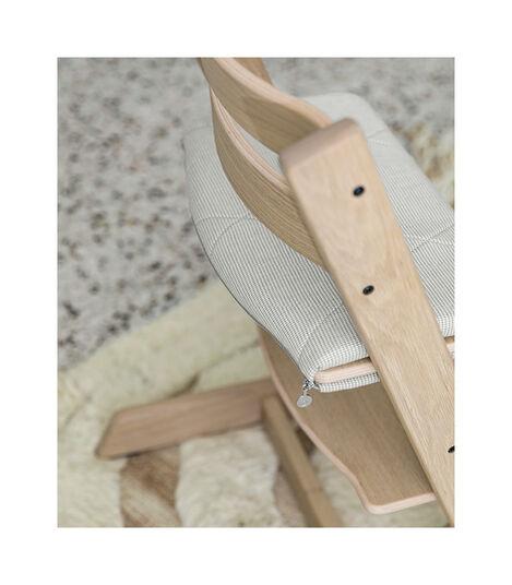 Tripp Trapp® Junior Cushion Nordic Grey on Oak Natural Chair. view 5