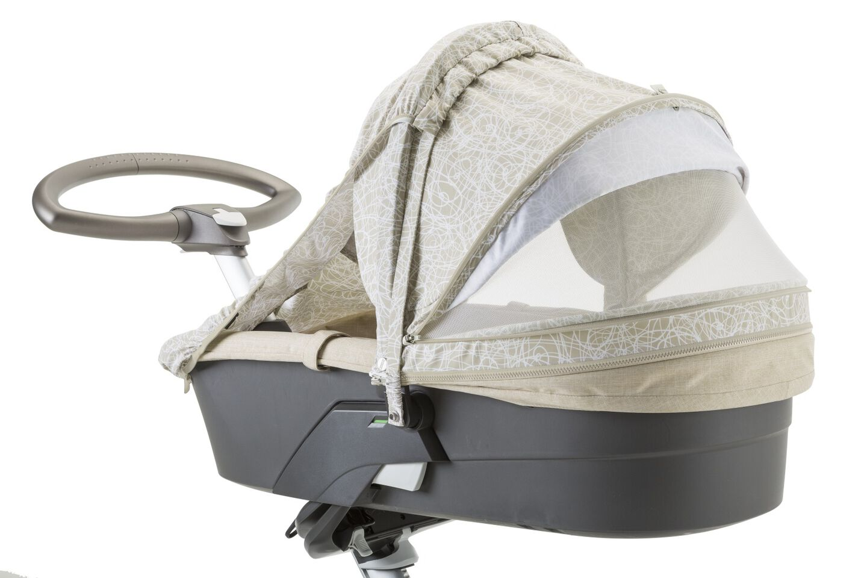 Stokke® Stroller Summer Kit Scribble Sandy Beige with Stokke® Xplory™ chassis, Beige Melange