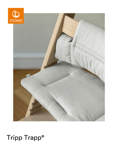 Tripp Trapp® Classic Cushion Nordic Grey on Oak Natural chair view 11