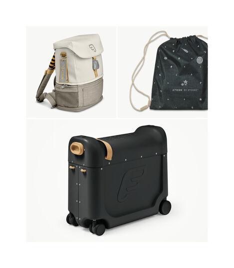 Zestaw podróżny BedBox™ + plecak Crew BackPack™ Czarny /Biały, Black / White, mainview view 4