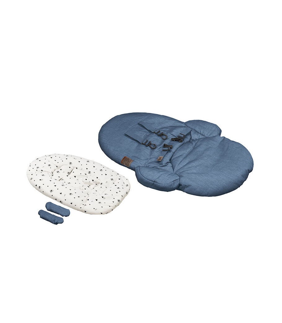 Stokke® Steps™ Bouncer Textile Set Blue with Newborn Insert White Mountain. Sparepart.