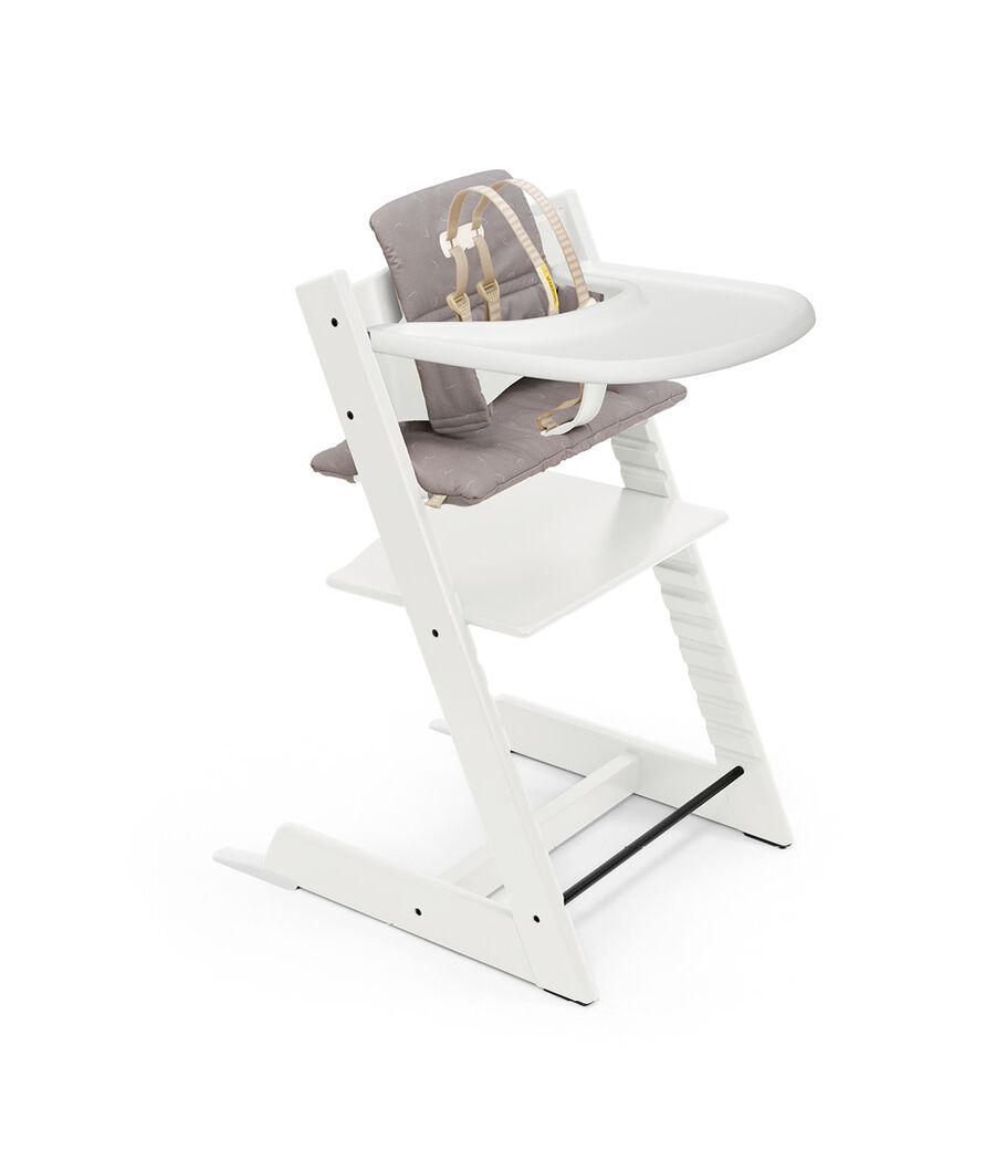 Tripp Trapp®, White, Icon Grey Cushion + Tray, mainview view 39