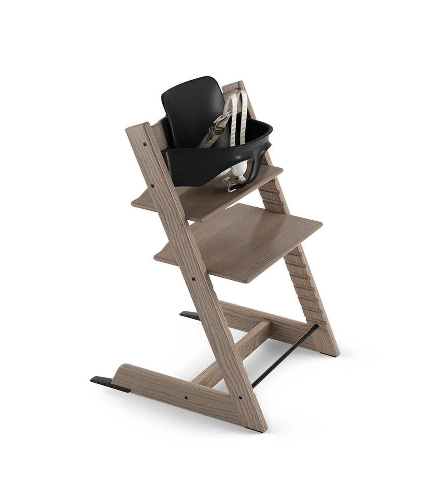 Tripp Trapp® Ash Limited Edition with Tripp Trapp® Baby Set Black. US version. 3D rendering.