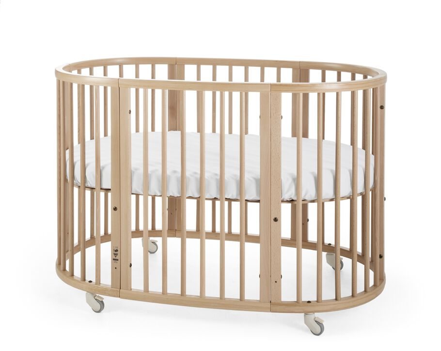 Stokke® Sleepi™ Natural. Fitted Sheet White.