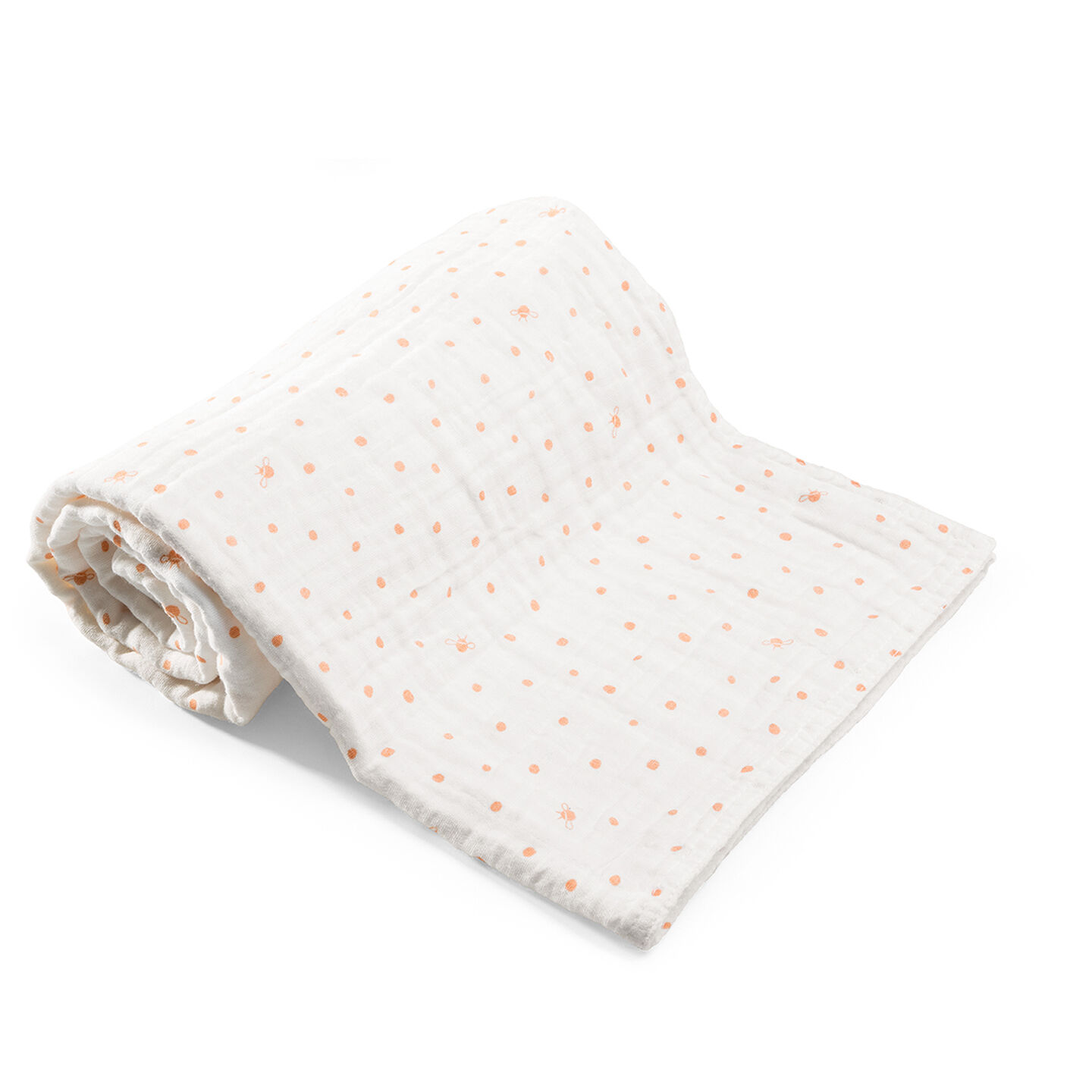 Blanket, Muslin Cotton, Coral Bee