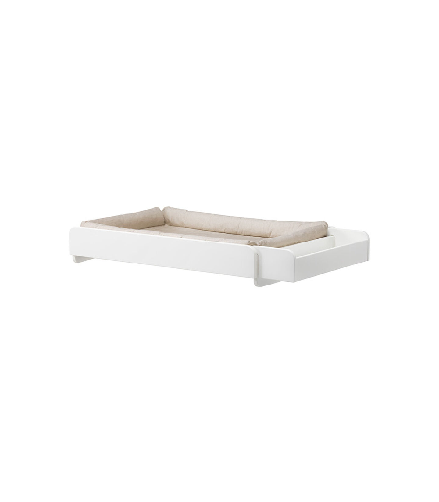 Stokke® Home Changer. White, with mattress. view 1