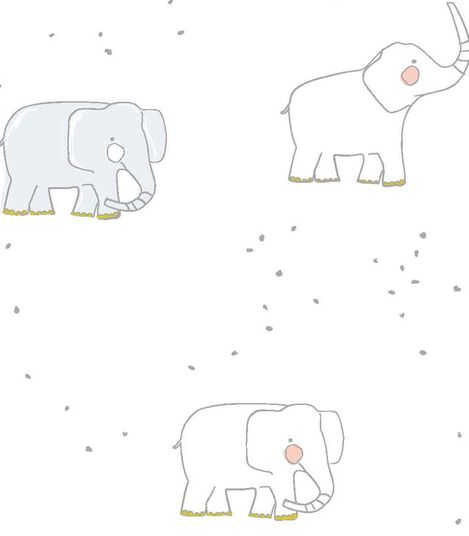 Stokke® Sleepi™ Fitted Sheet Pehr Elephant, Elephant, mainview view 2