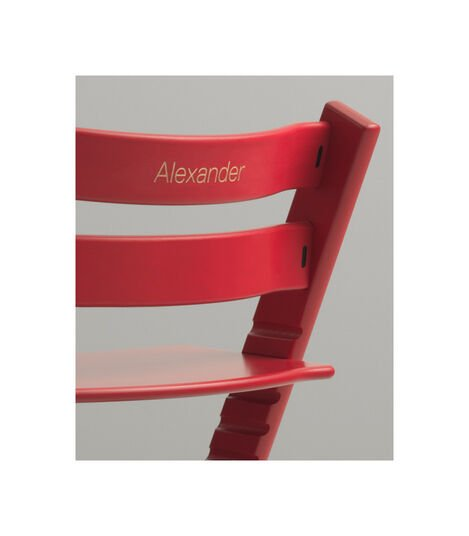 Tripp Trapp® Chair with engraving. Red.