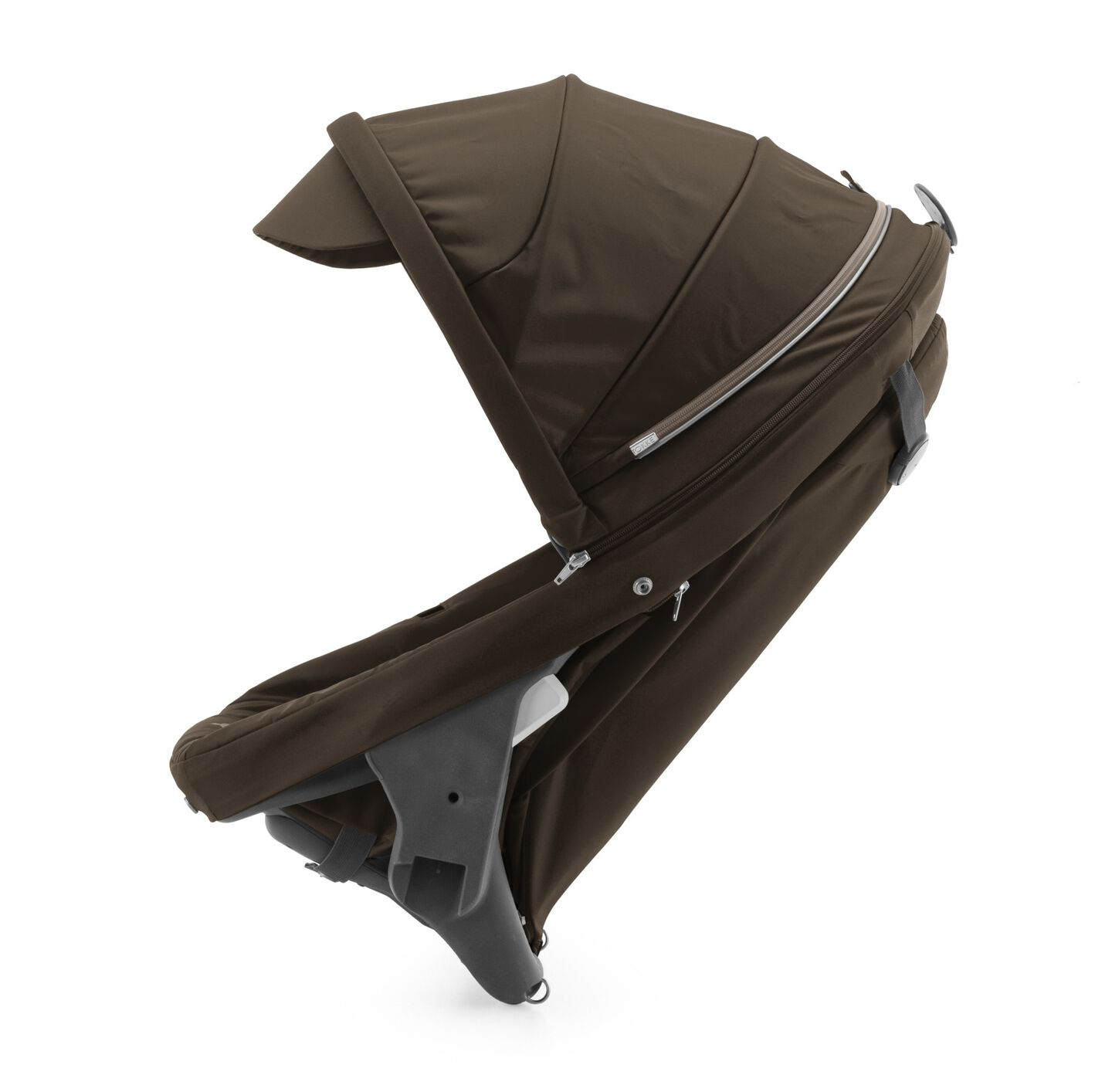 Stokke® Crusi™ Sibling Seat and sparepart seat for Stokke® Scoot™. Brown.