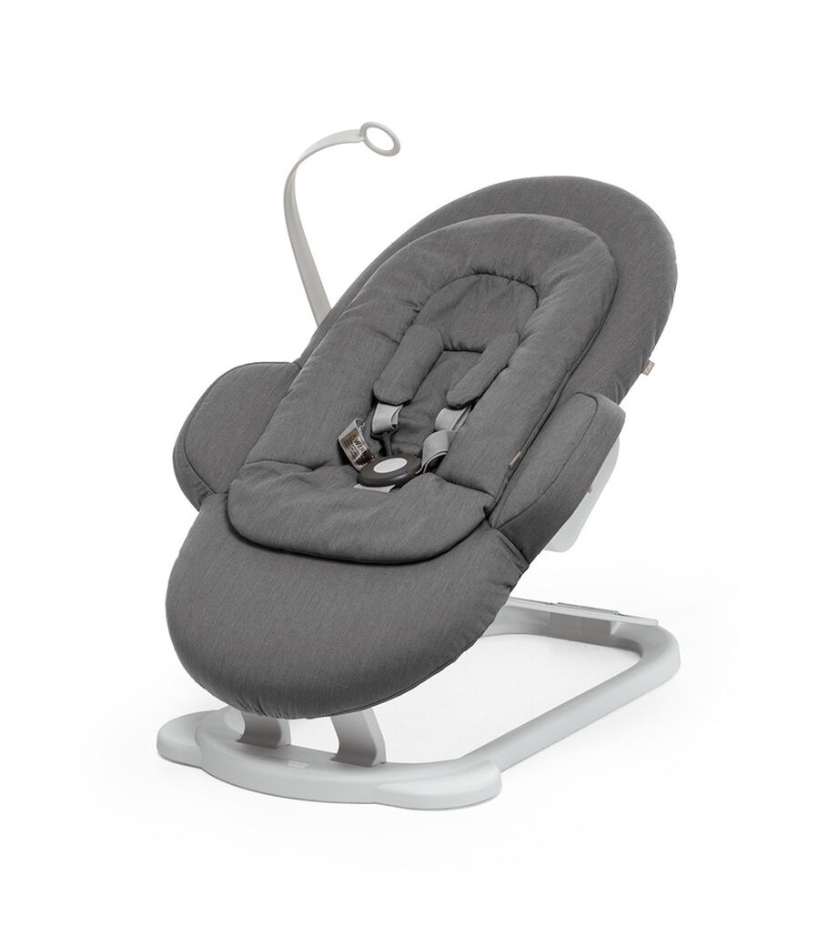 Stokke® Steps Bouncer in Deep Grey.