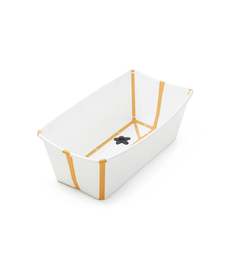Stokke® Flexi Bath® bath tub, White Yellow. Open.