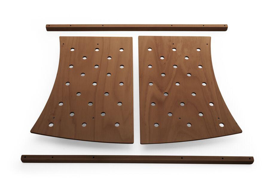 Stokke® Sleepi™ Extension Kit, from Bed to Jr. Bed. Walnut Brown.