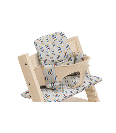 Tripp Trapp® High Chair Natural with Baby Set and Classic Cushion Robot Grey. Detail. view 5