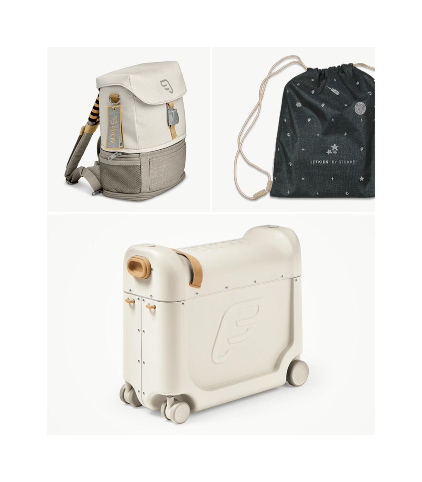 Reisesett med BedBox™ + Crew BackPack™ White/White, White / White, mainview view 3