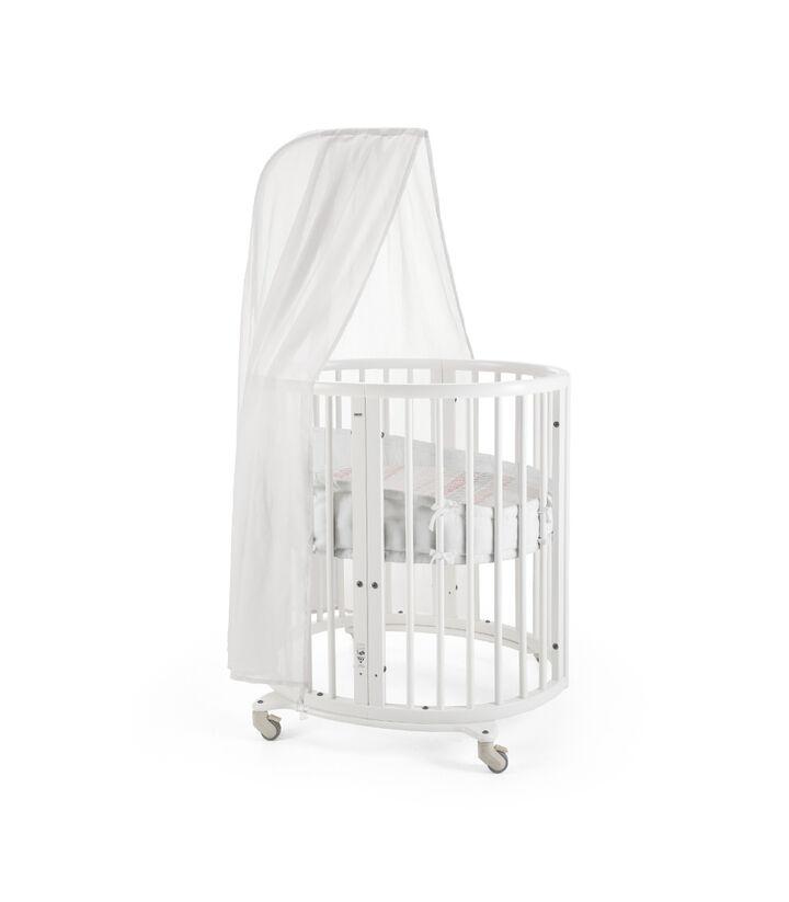 Stokke® Sleepi™ Voile de lit Blanc, Blanc, mainview view 1