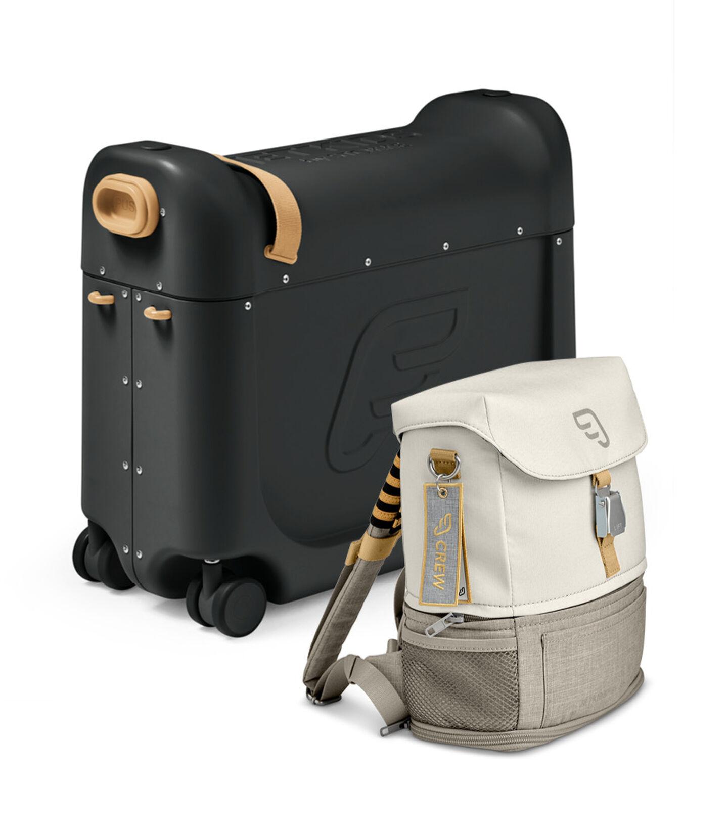 Zestaw podróżny BedBox™ + plecak Crew BackPack™ Czarny /Biały, Black / White, mainview view 2