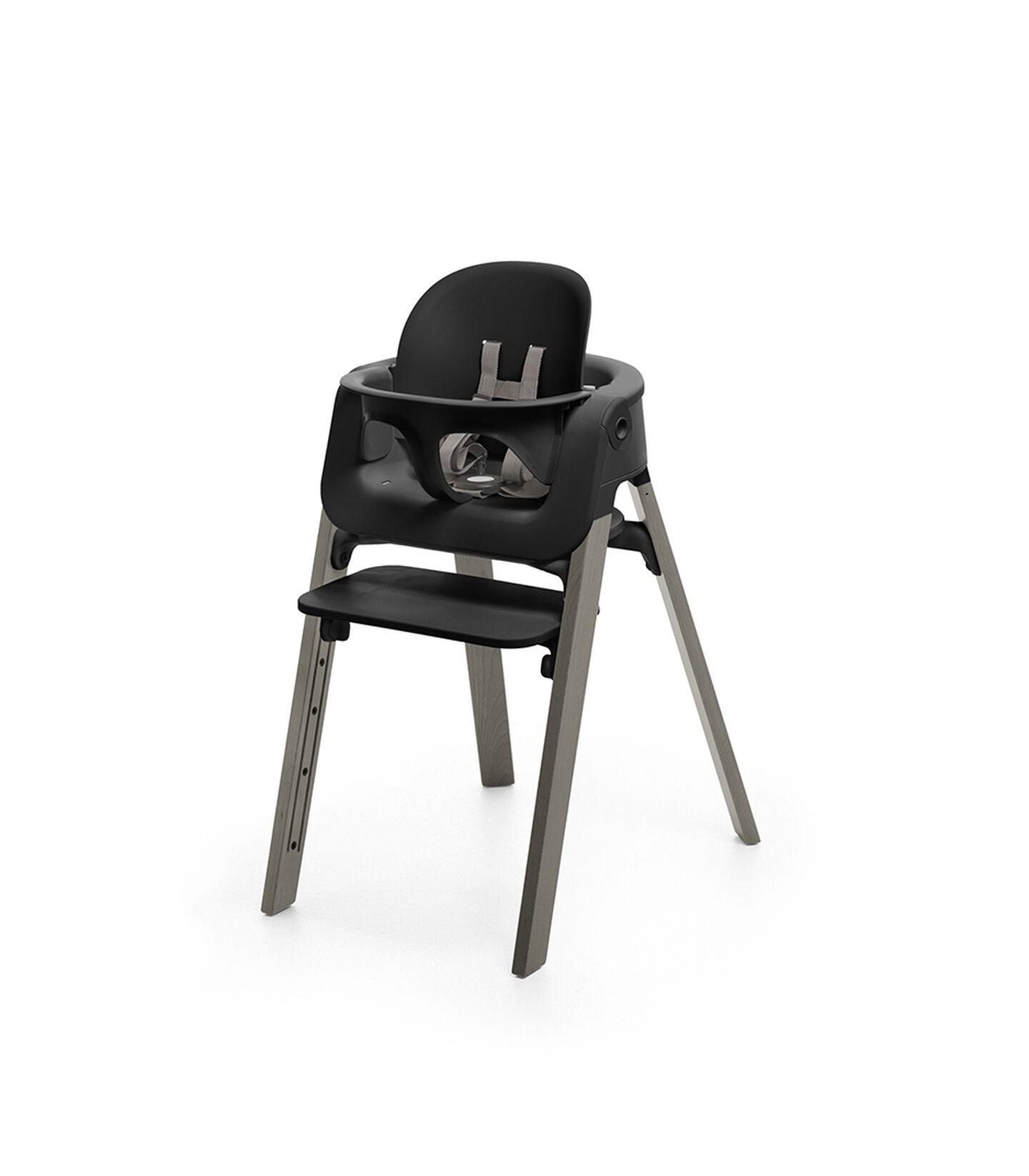 Stokke® Steps™ Hazy Grey with Black Baby Set.