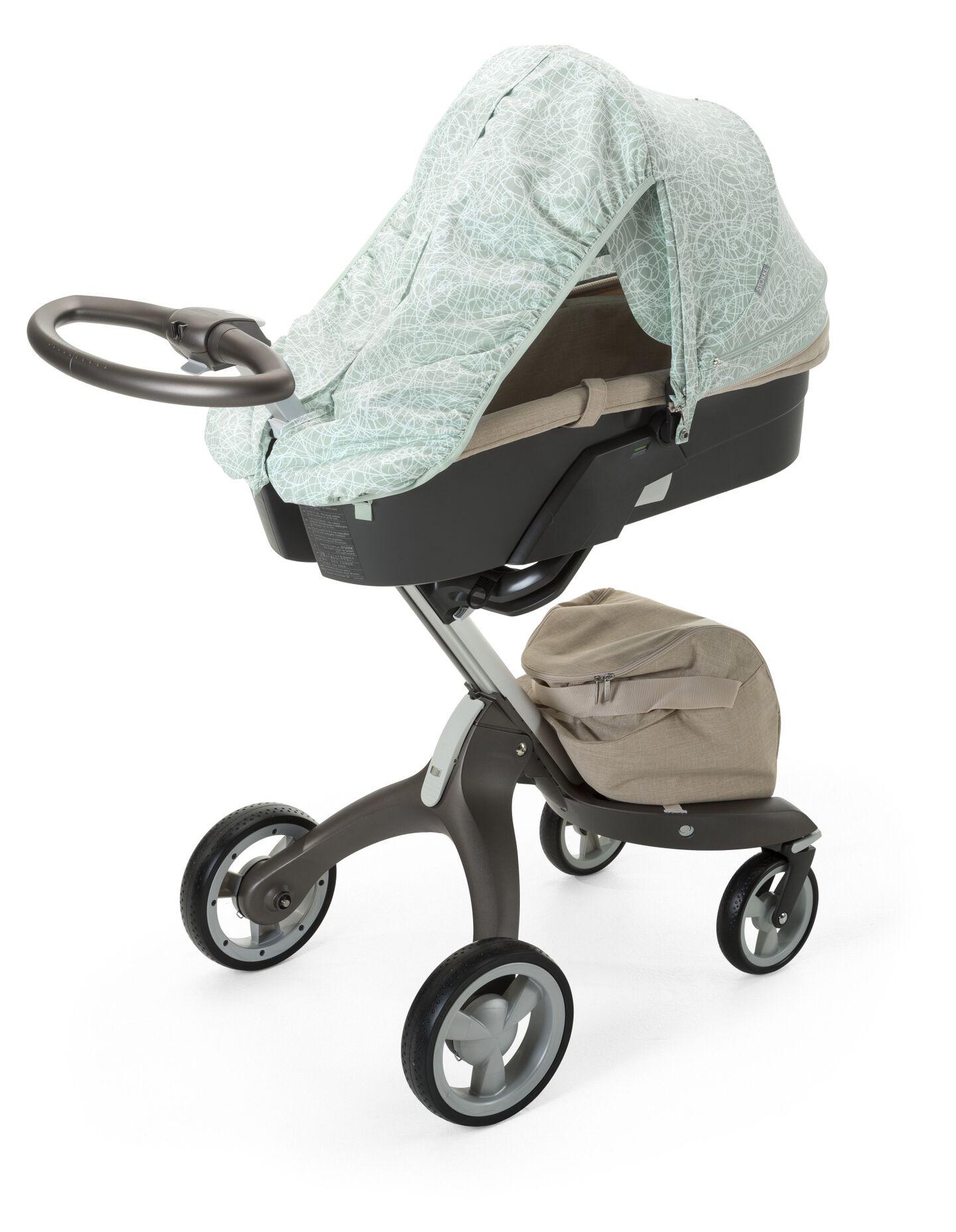 Stokke® Stroller Summer Kit Scribble Salty Blue with Stokke® Xplory® chassis, Beige Melange