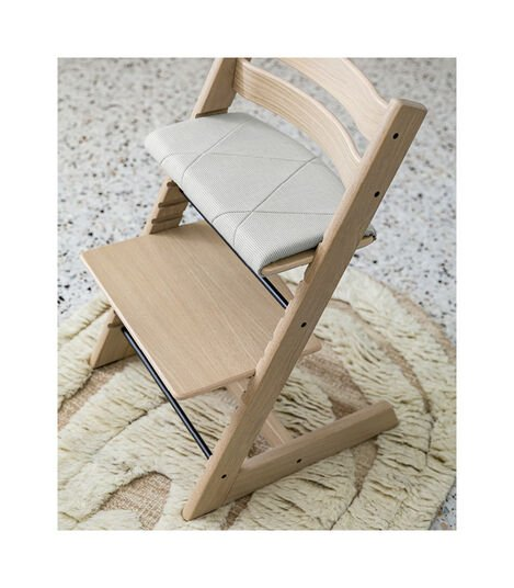 Tripp Trapp® Junior Cushion Nordic Grey on Oak Natural Chair. view 4