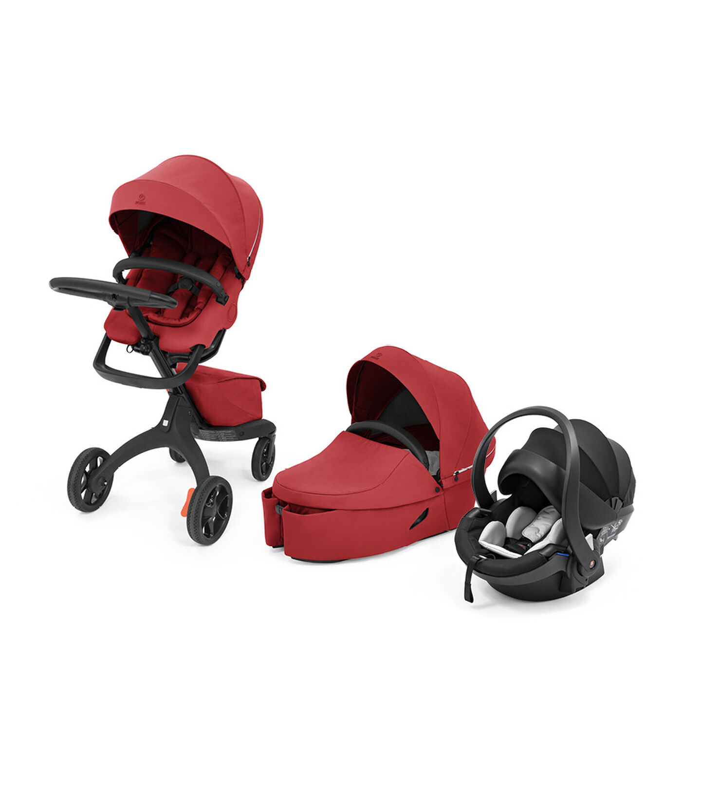 Stokke® Xplory® X Travel System Ruby Red. Global. view 8