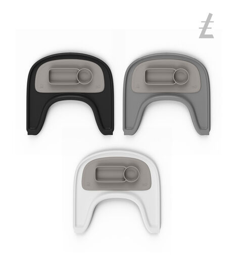 ezpz™ by Stokke®, Soft Grey. Stokke® Tray for Tripp Trapp®.