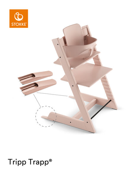 Tripp Trapp® Chair Serene Pink, Beech, with Baby Set. view 6
