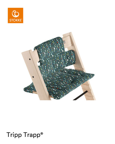 Tripp Trapp® Natural with Classic Cushion Terrazzo Petrol.  view 5