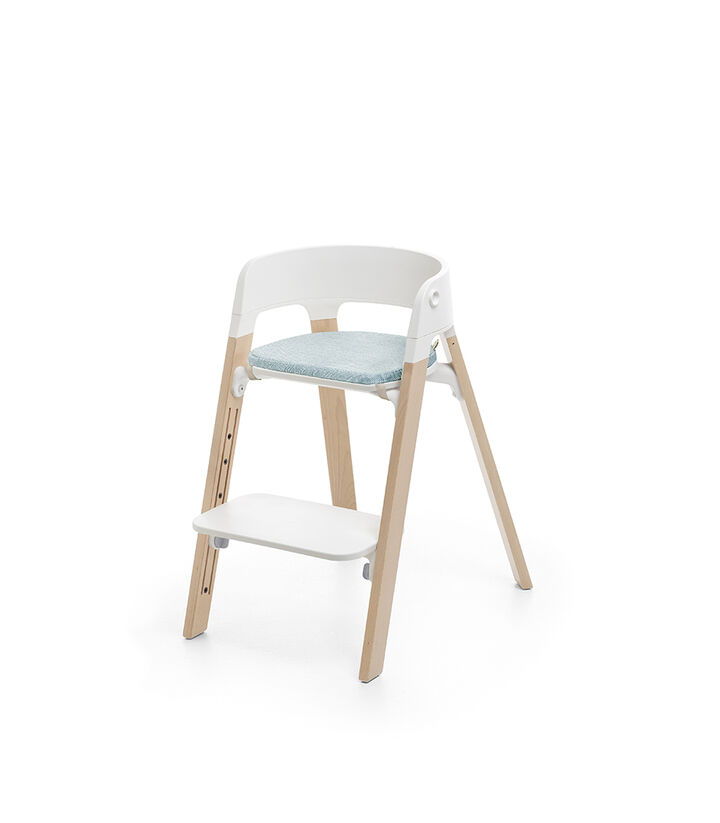 Stokke® Steps™ Natural, with Chair Cushion Jade Twill. view 1