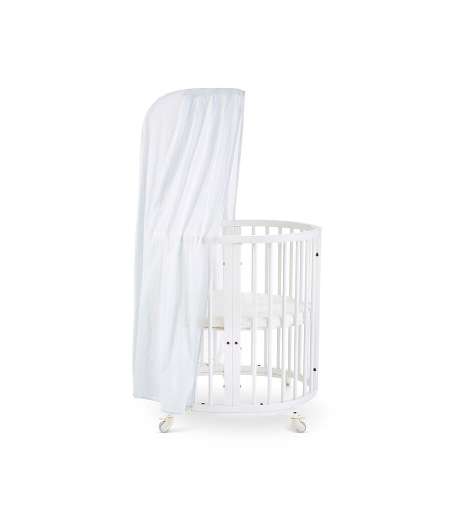 Stokke® Sleepi™ Mini, White. Canopy Pehr Mist. US only.