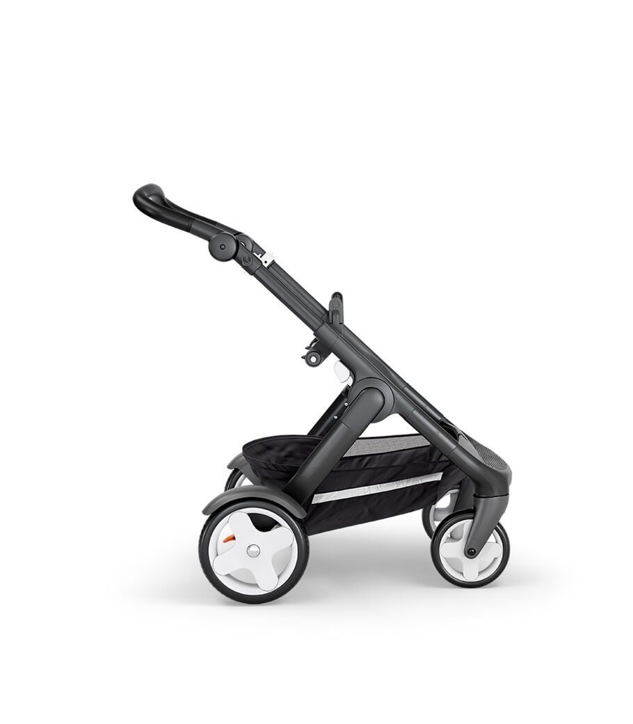 Stokke® Trailz™ with Black Chassis, Black Leatherette and Classic Wheels.