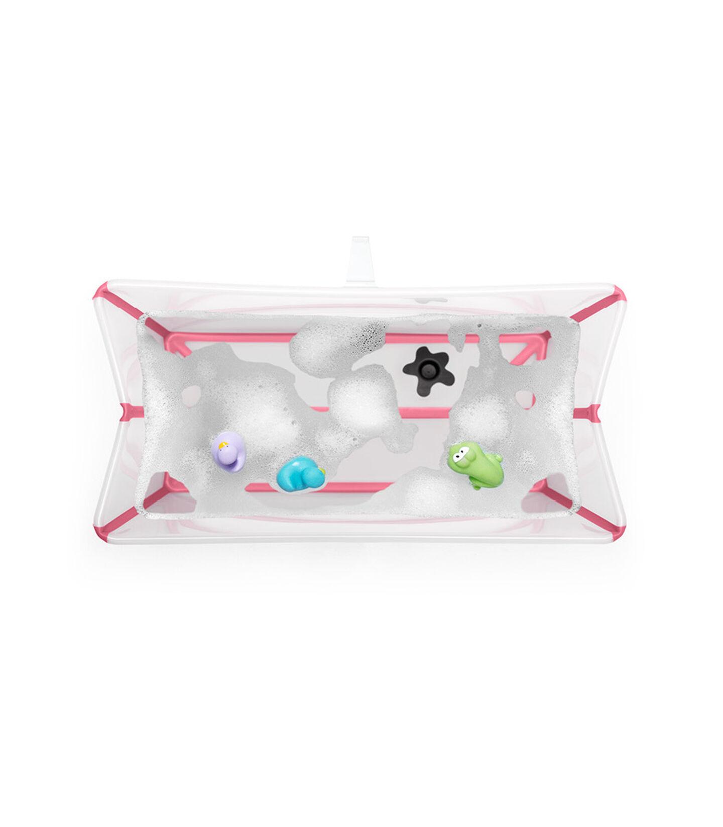 Stokke® Flexi Bath® bath tub, Transparent Pink. Open.