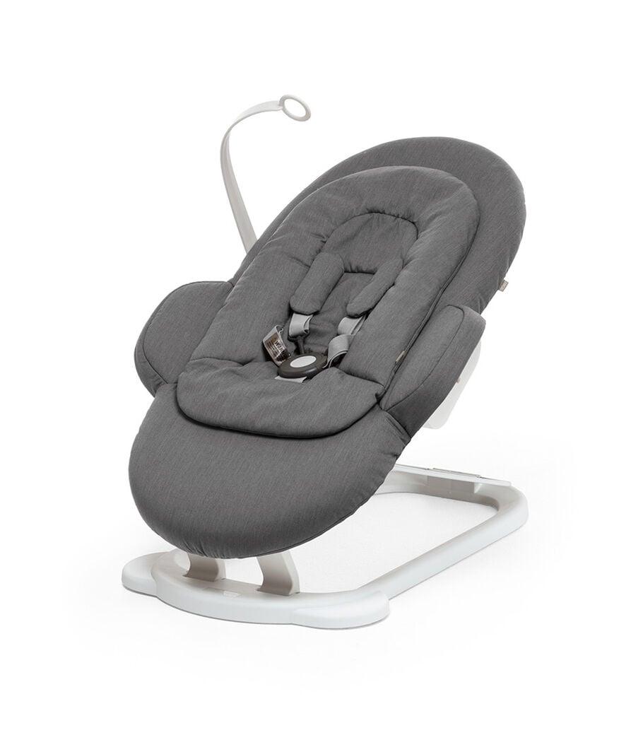 Stokke® Steps™ Sdraietta, Deep Grey White Chassis, mainview