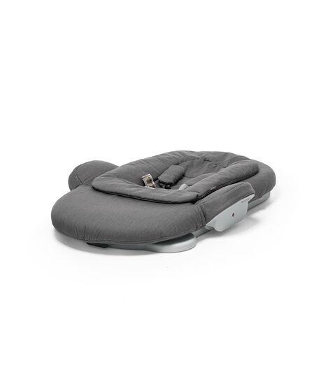 Stokke® Steps Bouncer in Deep Grey. Folded.