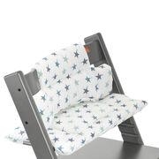 tripp trapp storm grey with aqua star cushion detail. Black Bedroom Furniture Sets. Home Design Ideas
