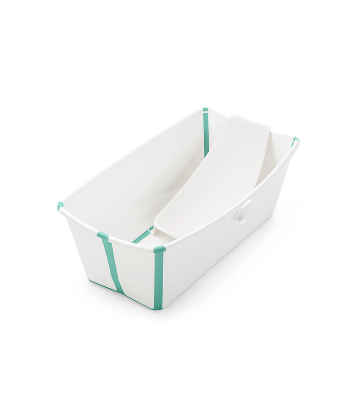 Stokke® Flexi Bath® bath tub, White Aqua with Newborn insert. view 1
