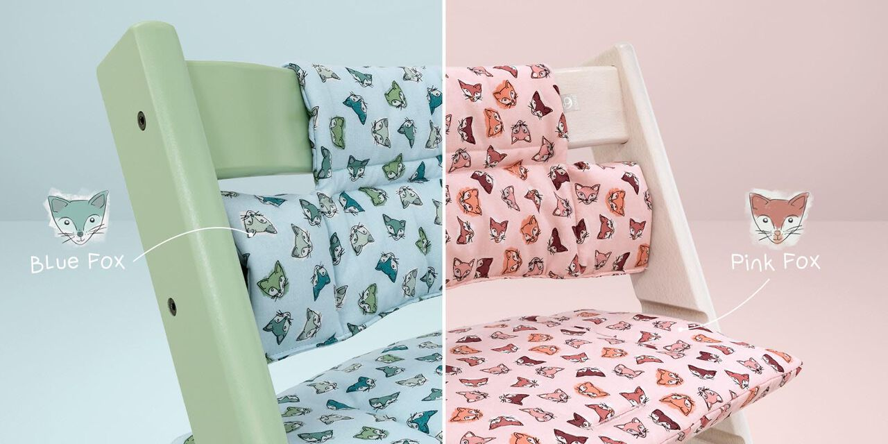 Tripp Trapp® Classic Cushion Pink and Blue Fox view 1