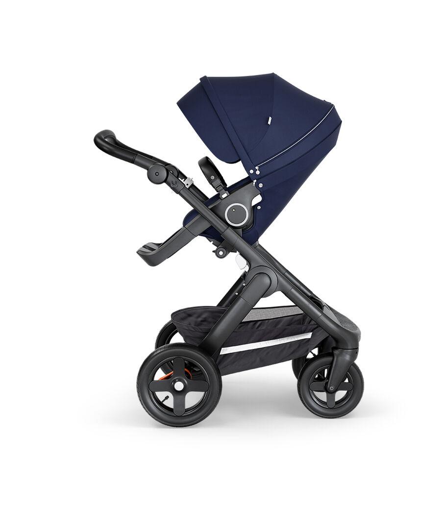 Stokke® Trailz™ Black Stroller, Deep Blue, mainview view 2