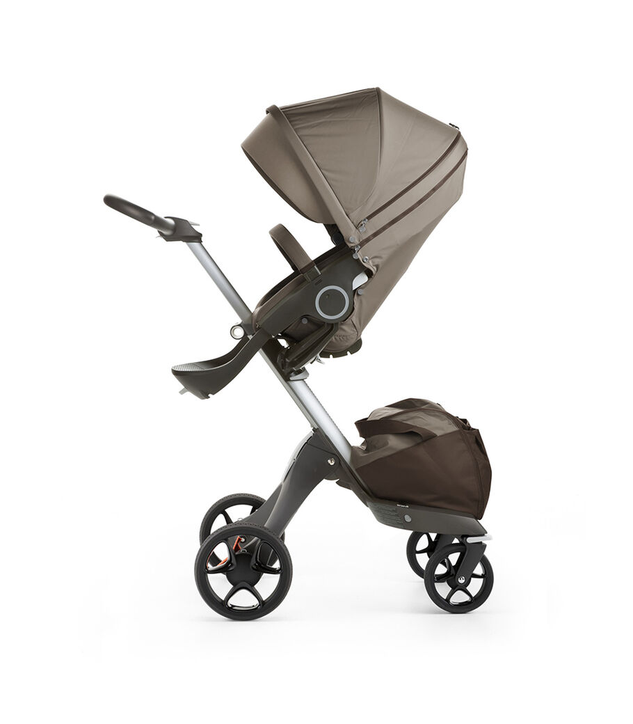 Stokke® Xplory® with Stokke® Stroller Seat, Brown. New wheels 2016.
