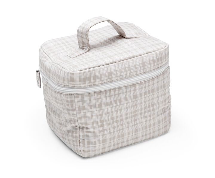 Diaper Bag, Checks Beige