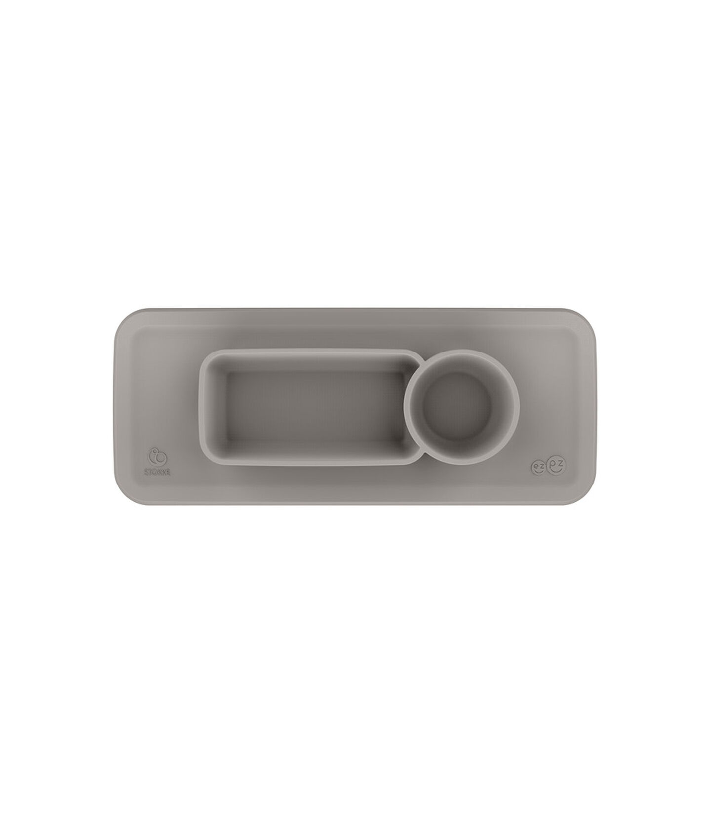 ezpz™ by Stokke™ placemat for Clikk™ Tray Green, Soft Grey, mainview view 2