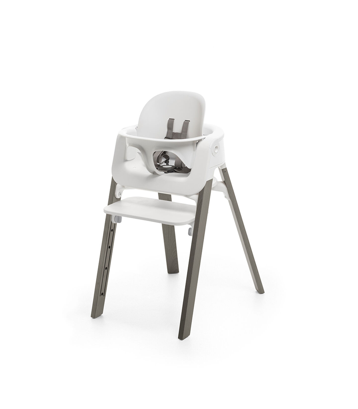 Stokke® Steps™ Chair Hazy Grey Legs with White, Hazy Grey, mainview view 3