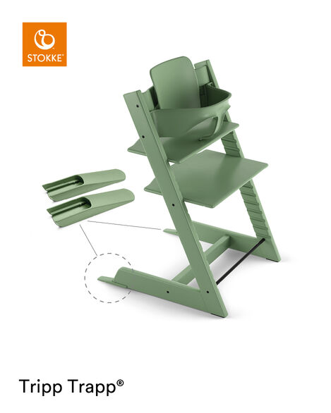 Tripp Trapp® Baby Set Moss Green, Moss Green, mainview view 4