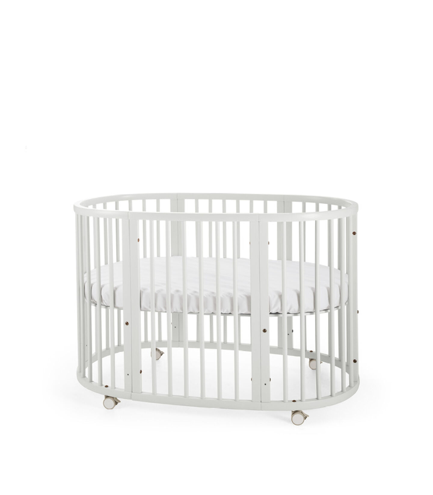 Stokke® Sleepi™ Bed. White. Mattress high. view 2