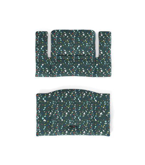 Tripp Trapp® Classic Cushion Terrazzo Petrol. Flatlay.