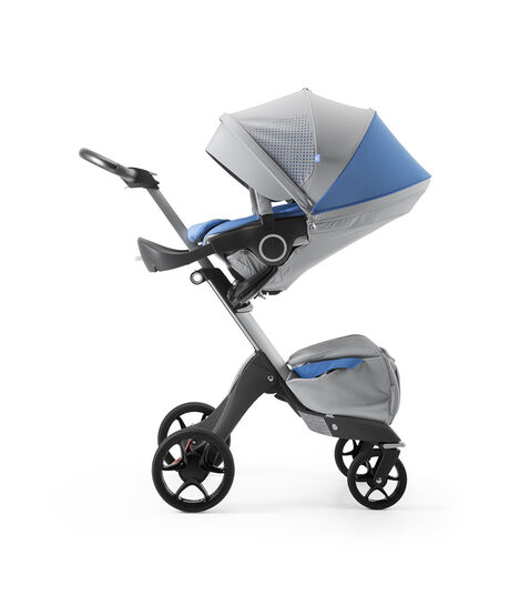 Stokke® Xplory® Silver Chassis and Seat. Athleisure Marina. view 3