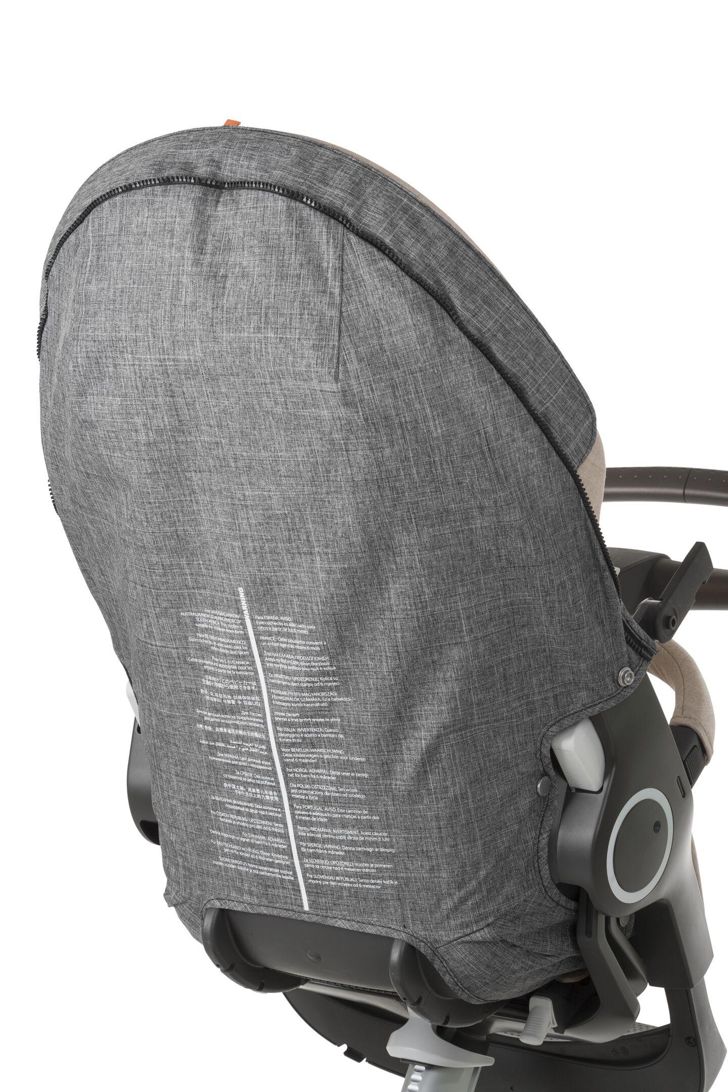 Stokke® Xplory® Cover voor Seat onderzijde Black Melange, Black Melange, mainview