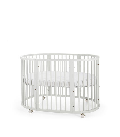 Stokke® Sleepi™ Bed. White. Mattress high. view 4