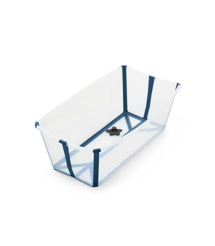 Stokke® Flexi Bath® bath tub, Transparent Blue. Open. view 1