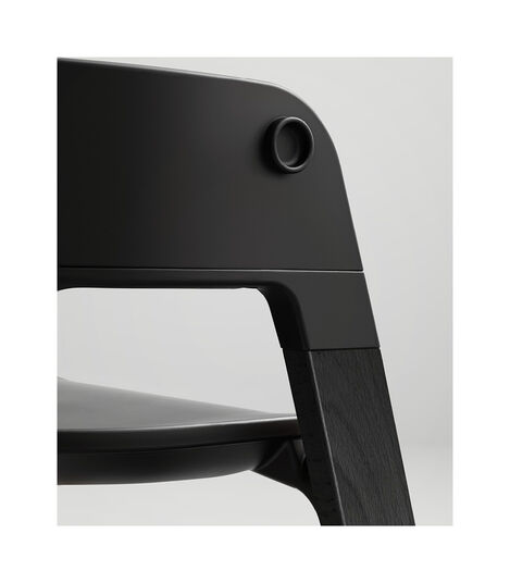 Stokke® Steps™ Highchair. Beech Black and Black seat. Detail. view 9