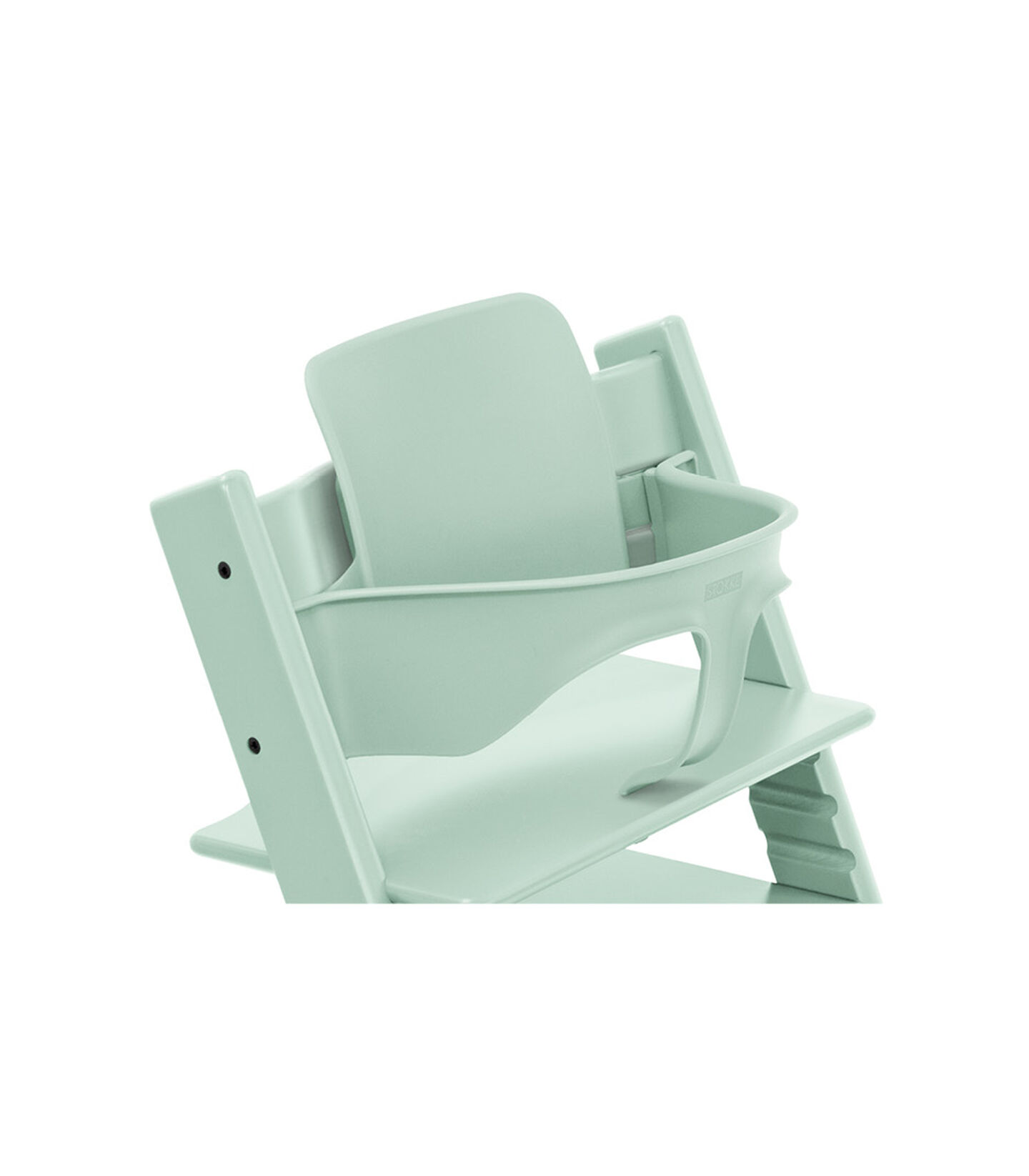 Tripp Trapp® Chair Soft Mint, Beech, with Baby Set. view 1
